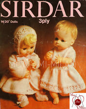 Knitting Pattern BABY DOLLS CLOTHES DRESS COAT BONNET BOOTEES REBORN TINY TEARS