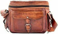 Genuine Leather Handbag Shoulder Bag Satchel Messenger bag for camera, DSLR