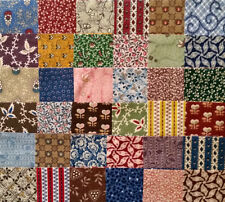 36 Marcus Brothers CIVIL WAR Repro Fabric Squares - from 1990's fabrics!