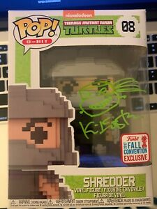 Kevin Eastman Signed Teenage Mutant Ninja Turtles 8-Bit Shredder 2017 Pop! #08