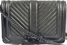 NWOT AUTH REBECCA MINKOFF BLACK SMALL LOVE LEATHER CROSSBODY MSRP $195.00 #521L