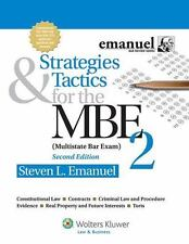 Bar Review: Strategies and Tactics for the MBE 2 by Steven L. Emanuel (2013,...