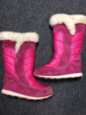 Timberland Boots Pink Size 4 White Trim