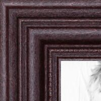 """ArtToFrames Custom Picture Poster Frame Red Dark Cherry Stain 1.25"""" Wide Wood"""