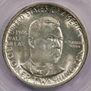 1946-S Booker T. Washington BTW Classic Silver Commemorative Half ICG MS65+