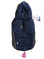 New listing Top Paw Dog Hooded Puffer Jacket Coat Medium Blue Gray Faux Fur