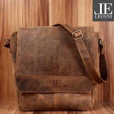 LECONI Collegetasche Messenger Bag DIN A4 Büffelleder Used Look braun LE3063-vin