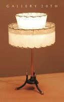 RARE! MID CENTURY MODERN ATOMIC TRIPOD LAMP! 50'S FIBERGLASS SHADE VTG 60S RETRO