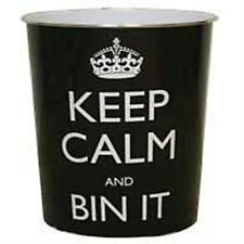 Keep Calm Plastic Waste Bin - Funky - Red or Black - Bedroom Office Living Room