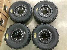 Hiper CF1 4+1 Beadlock Rims ITP Holeshot MXR6 Tires Front/Rear MX Kit Wheels