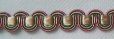 Scroll Gimp 3/8 inch wide by 3 yard Soft Gold Green Rust Red (NG302A-0131)