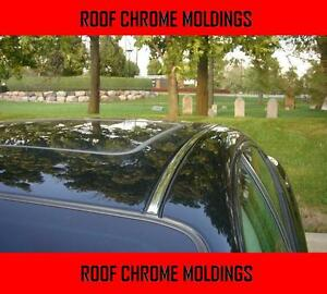 2 Piece Chrome Silver Top Roof Overlay Molding Trim Kit For Acura Models