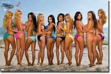 MAXIM HOMETOWN HOTTIES BEACH BIKINIS POSTER 34X22 NEW FREE SHIPPING