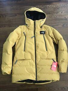 NWT Women's The North Face Pallie 550 Fill Down Hood Golden Yellow Jacket Medium
