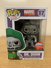 Funko Pop Dr. Doom Black & White Fugitive Toys Exclusive New W/Protector Pls Rd.