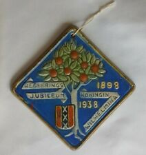 C.1938 Gouda Netherlands Holland Wall Tile Dutch Queen Wilhelmina 40 yr Jubilee