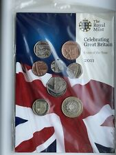 More details for 2011 royal mint bunc 8 coin definitive year set