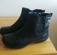 Hush Puppies Black Leather Ankle Boots Sz UK 4 Eu 37 New without tags