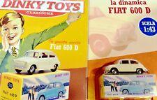 DINKY JUGUETES FIAT 600 MINIATURAS 1:43 FRANCE COCHE MODELO DE AGOSTINI ATLAS