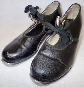Vintage MONTE CARLO CHILDS black TAP DANCING SHOES