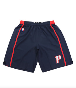 Detroit Pistons 4XL Adidas Authentic On-Court Team Issued Pro Game Shorts Navy