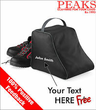 Hiking Boot Bag Personalised Gift/Birthday -FREE EMBROIDERY QD85