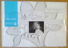 KYLIE AT HOME Housewife Pillowcase PAIR New AUDREY WHITE