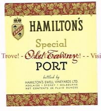 Unused 1940s AUSTRALIA Glenelg HAMILTON'S Special Old Tawny PORT Wine Label