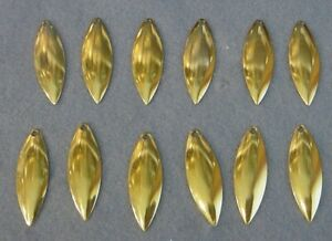 12 -Worth Mfg #3 1/2 GOLD Polished Willow Leaf Spinnerbait *Shallow Cup Blades