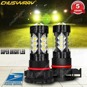 For DODGE Charger 2010-2014 LED Headlight Kit 5202 4500K Yellow Fog Lights Bulbs