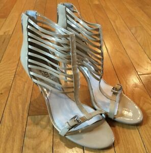 Michael Kors Strappy Tan Brown Leather Gladiator Sandals High Heels Size 10