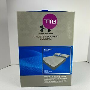 UNDER ARMOUR Athlete Recovery BRADY Bedding Sheet Set Full Gray $275 MSRP!