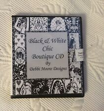 BLACK & WHITE CHIC BOUTIQUE CD BY DEBBI MOORE DESIGNS CARD CRAFT CRAFTING