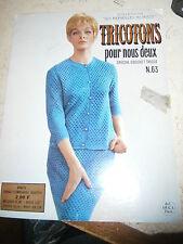 Revue tricot Laine : Tricotons pour nous deux n°63 spécial crochet tricot