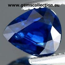 ZAFFIRO NATURALE – NATURAL SAPPHIRE  CT 0.82 VSI  BLUE COLOR PEAR CUT MADAGASCAR