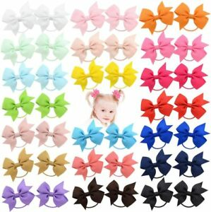 Girls hair bow bobbles 2.2 inches pairs of bobbles for babies toddlers lot