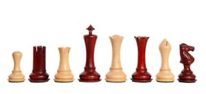 """The Empire Luxury Chess Set - Pieces Only - 4.4"""" King - Blood Rosewood"""