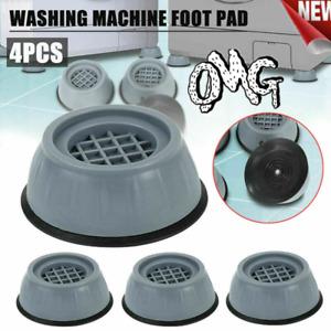 4PCS Washing Machine Anti-Vibration Anti-Slip Rubber Feet Pads Mat Base Fixed