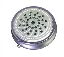 Emerald Gemstones Three Section Pocket PurseTravel Medicine Small Pill Box Case