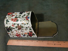 (Made in England) Metal Container - Multi-Color - Floral (Vtg.) FREE SHIP.