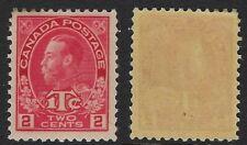 Canada Scott MR3b: 2c+1c Rose Red King George V Admiral War Tax, Die I, VF-VLH