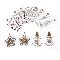 12pcs/bag Christmas Hangable Gift Cute Label Small Card Craft Tag Decorat I1