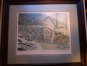 "John Kollock ""April on Hazel Creek"" Print, Signed & Numbered, #250/1000,Framed"