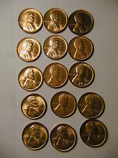 Lincoln Set 1935-1958 Wheat RED BU cents pennies beautiful! Select choice to Gem
