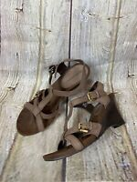 Naturalizer Women's Strappy Brown Sandals Shoes Size 8 Wedges