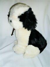 "APPLAUSE BLACK/WHITE  English Sheep Dog plush brown toggle collar 16"" 1985"