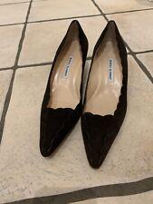 Manolo Blahniks, Size 41 (7). Chocolate Brown Kitten Heels. Excellent Condition