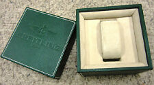 Green BREITLING Suede Leather Watch or Chrono Gift Presentation Display Box Set