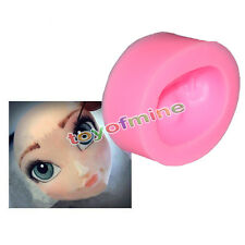 Gâteau silicone Fille Princesse Visage Moule Fondant Sucre Pâte Mold DIY Head