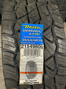 1 New 265 65 18 Delta Sierradial A/T Plus Tire